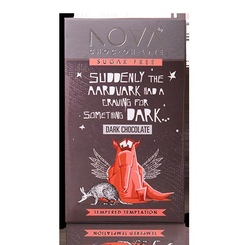 Aardvark dark chocolate-nova chocolate-vegan-sugar free-gluten free-dairy free